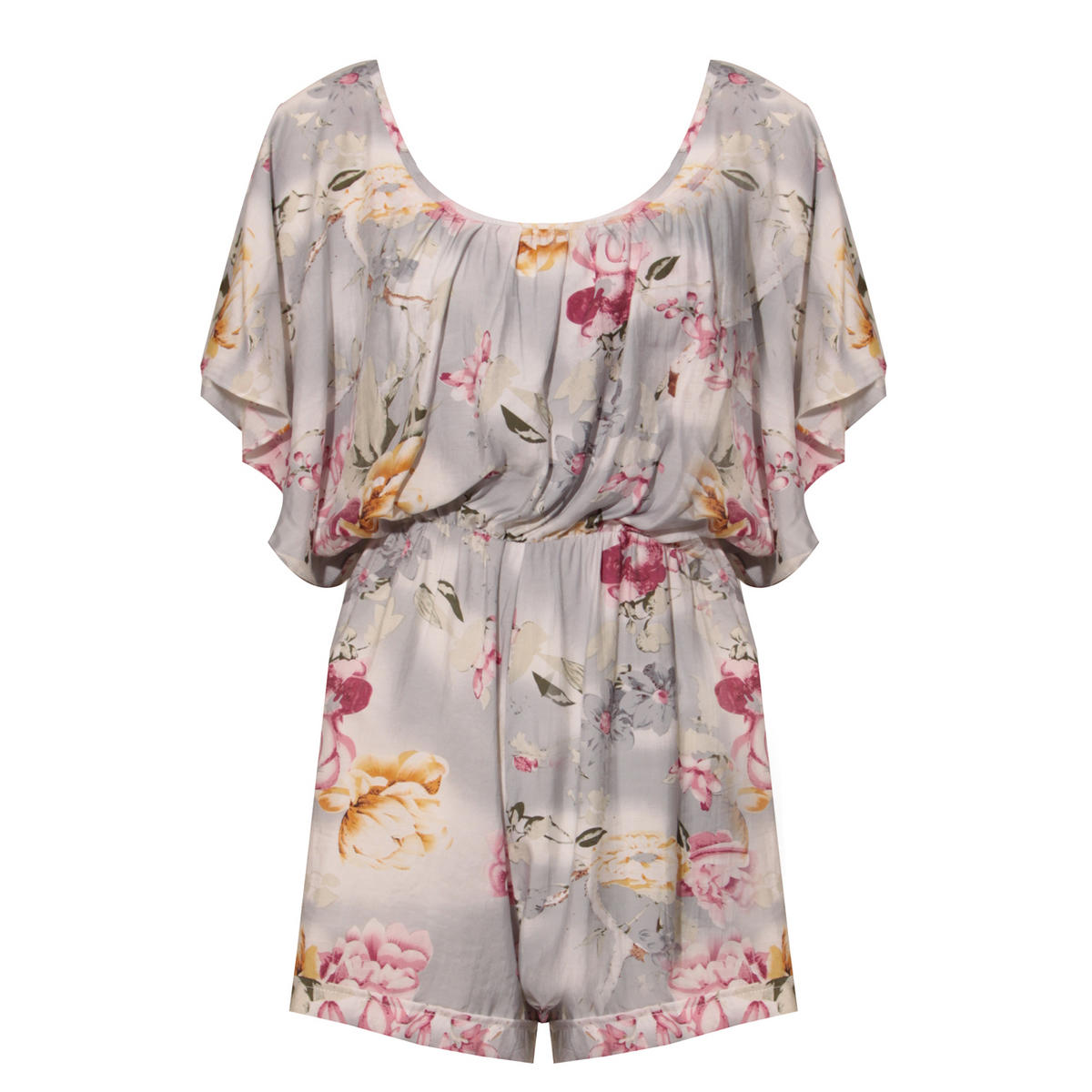 Grey Floral Playsuit Preview